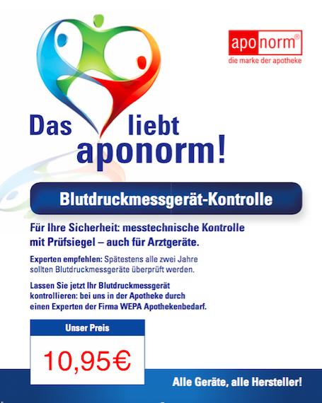Blutdruck - Messgerät-Kontrolle in der Sschloss-Apotheke Hirschau