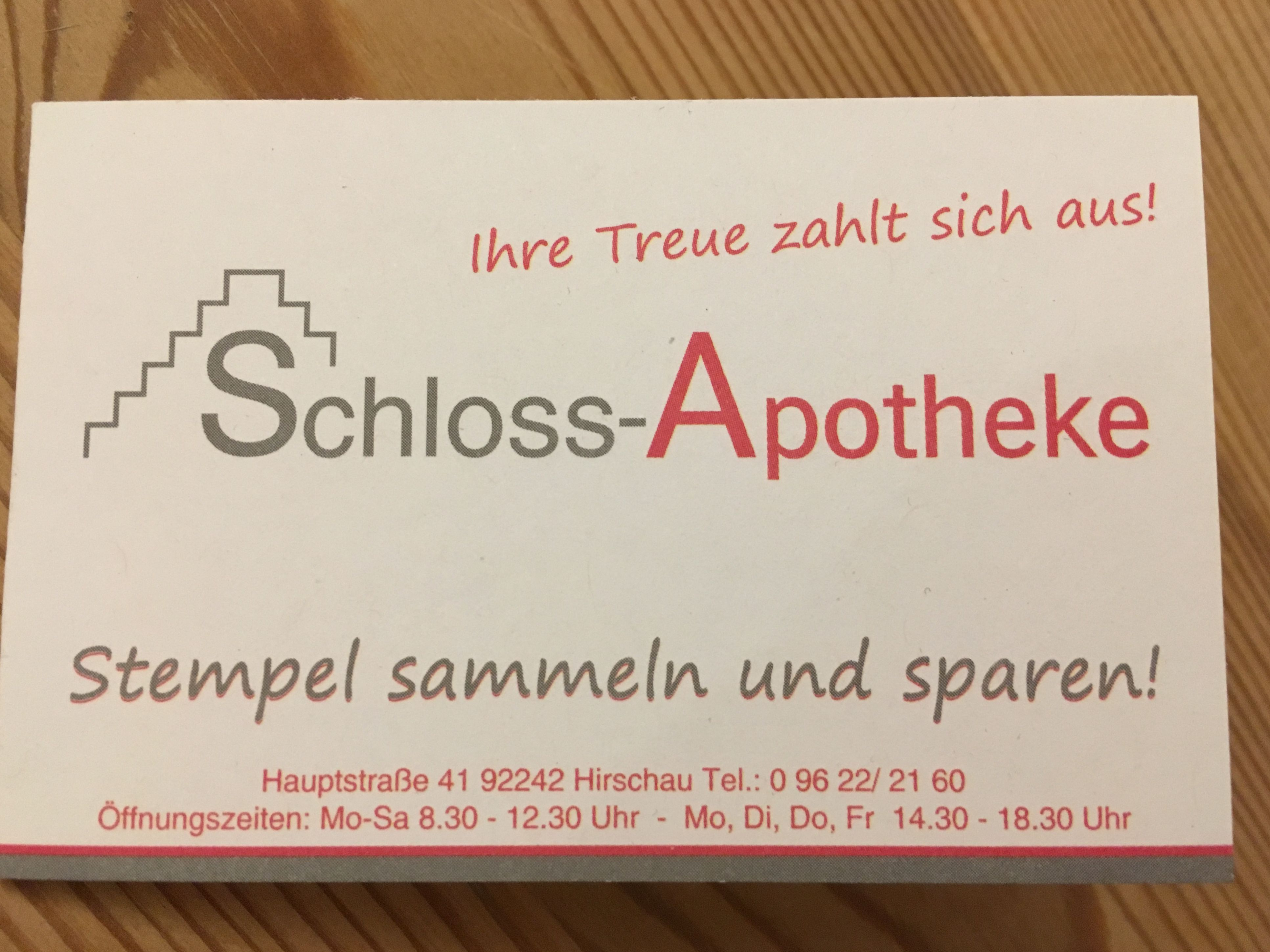 Sammelkarte Schloss-Apotheke 1